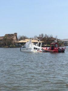 Hurricane Harvey Boat Damage